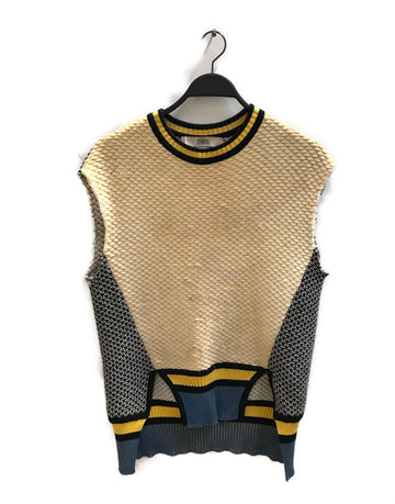 PRABAL GURUNG//Knitted Vest/F/MLT/Wool/Plain