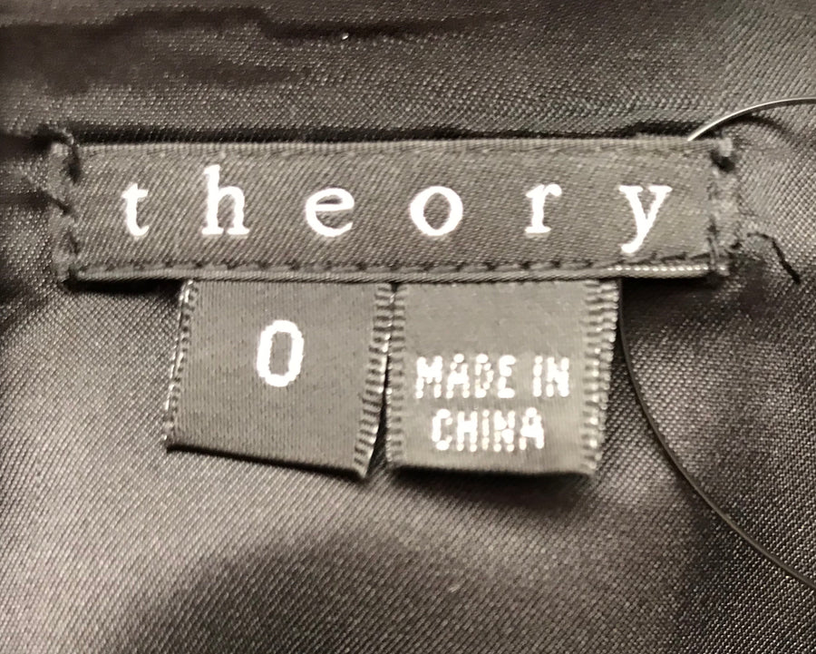 theory//SS Dress/0/BLK/Polyester/Plain