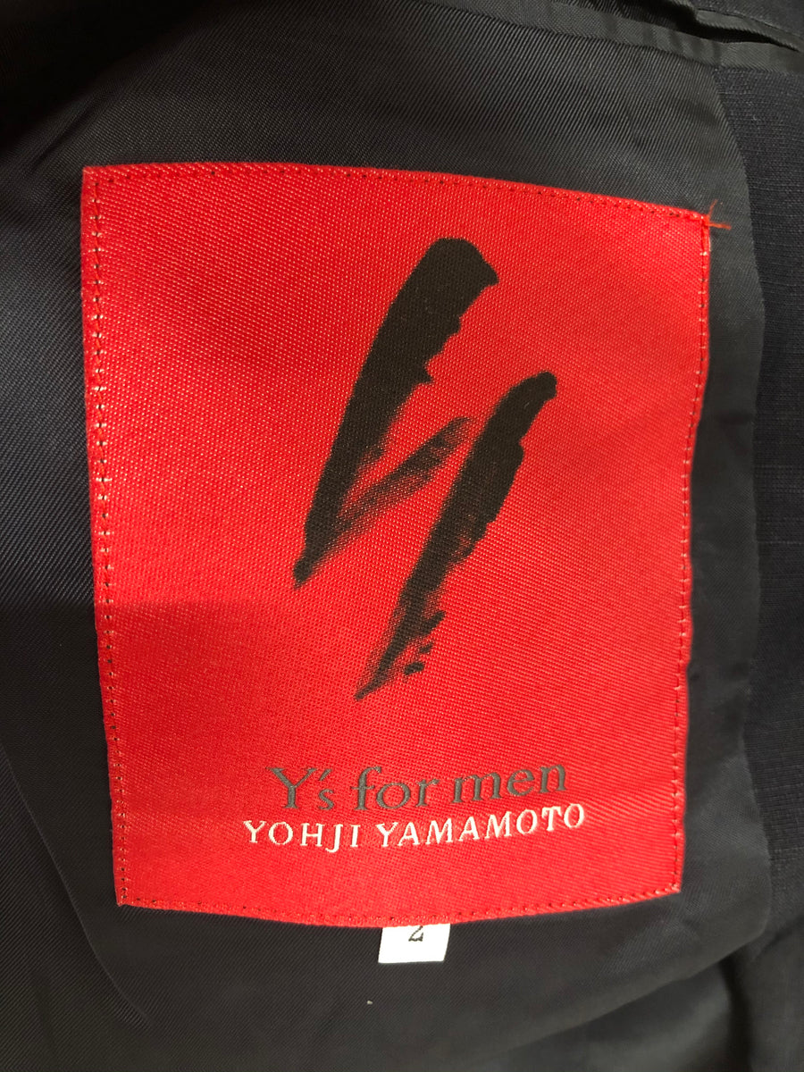 YOHJI YAMAMOTO/Wise For Men/Tailored Jkt/2/silk/NVY/MQ-150-453/red label/REDLABEL