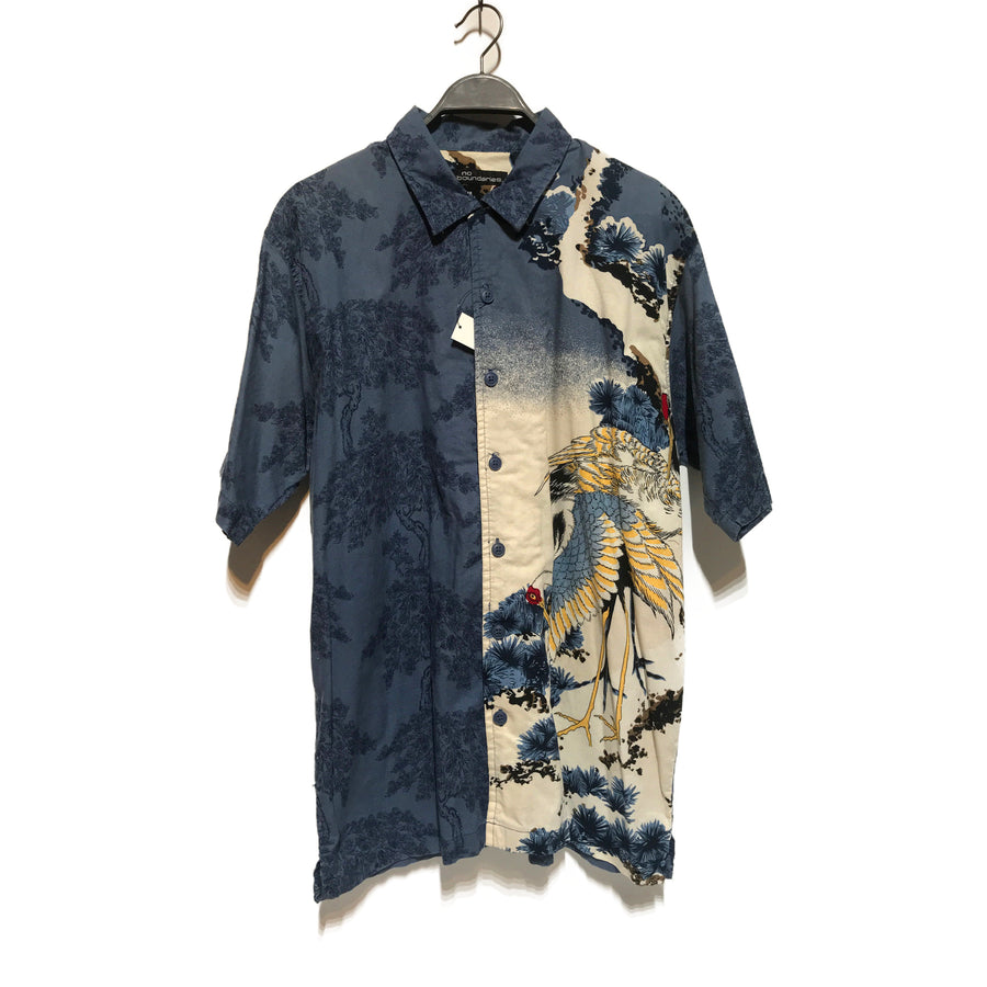 Vintage//Hawaiian Shirt/L/NVY/Cotton/Graphic