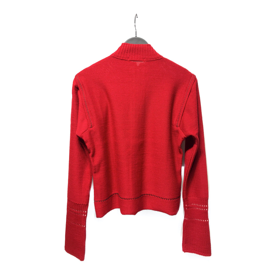 MARITHE FRANCOIS GIRBAUD//Jacket/USA6/RED/Wool/Plain