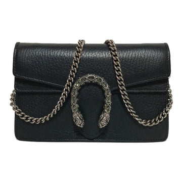 GUCCI/DIONYSUS MINI/Cross Body Bag//BLK/Leather/Plain