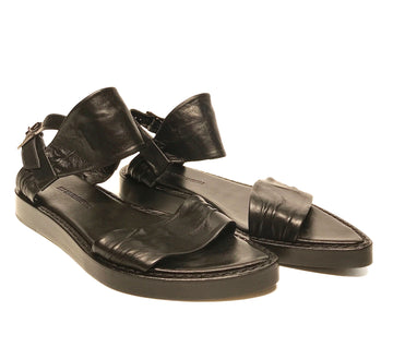 ANN DEMEULEMEESTER//Sandals/EU37.5/BLK/Leather/Plain