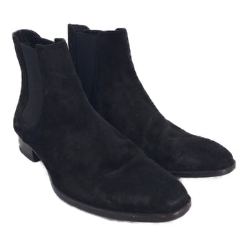 SAINT LAURENT//Chelsea Boots/US9.5/BLK/Suede/Plain
