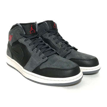 Jordan/JORDAN 1 MID BLACK GYM RED/Hi-Sneakers/12/GRY/Others/Plain