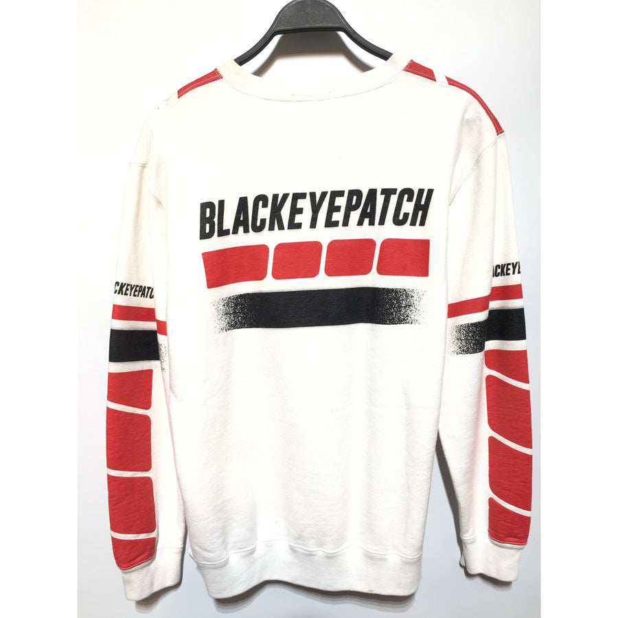 THE BLACK EYE PATCH/Sweatshirt/M/Cotton/WHT