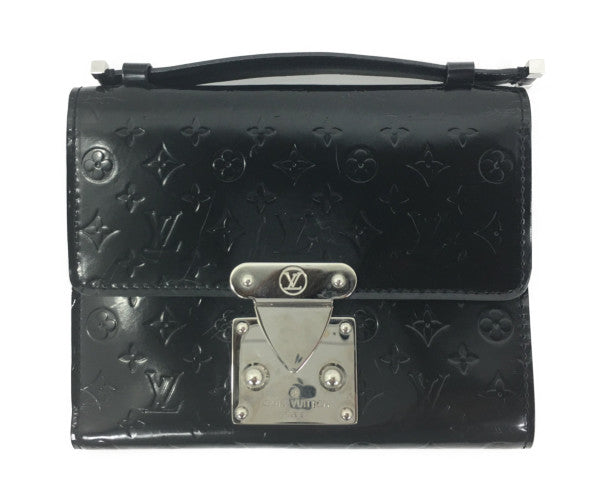 LOUIS VUITTON/S/Trifold Wallet/BLK/Leather/Monogram