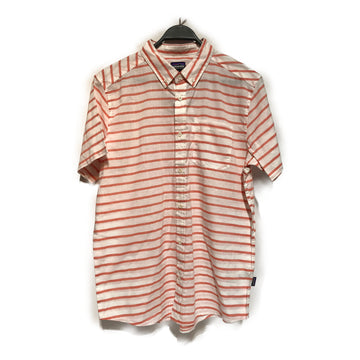 patagonia//SS Shirt/L/PNK/Cotton/Stripe