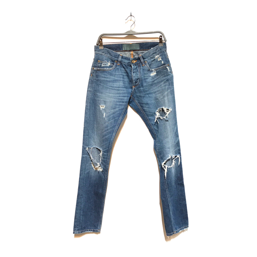 DOLCE&GABBANA/DOLCE & GABBANA DENIM/Straight Pants/EU46/NVY/Cotton/Plain
