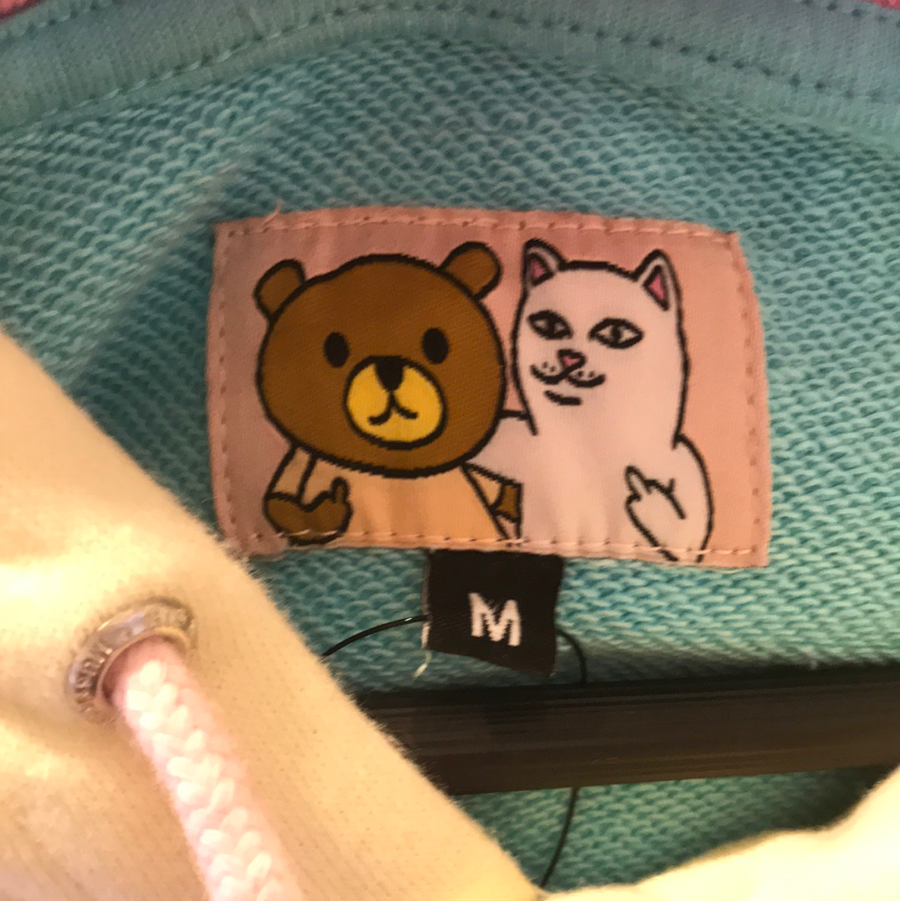 RIPNDIP/TEDDY FRESH/Hoodie/M/MLT/Cotton/Plain