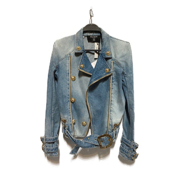 BALMAIN//Denim Jkt/36/BLU/Denim/Plain