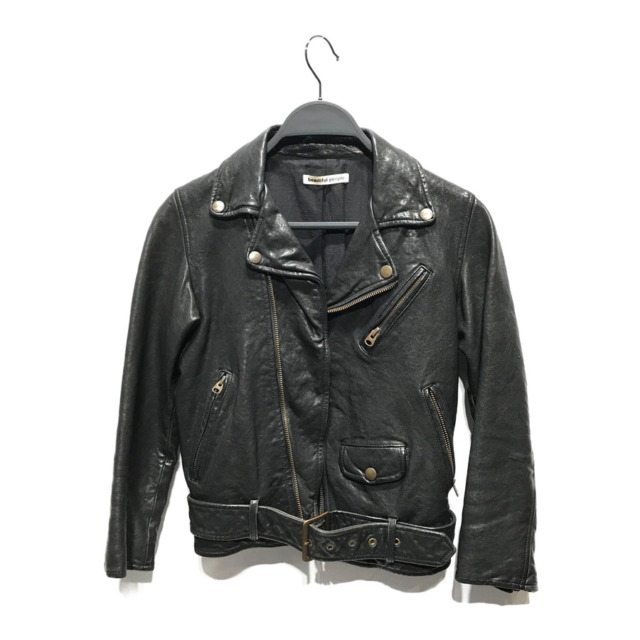 beautiful people/Riders Jacket (W)/Leather/BLK