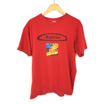 Supreme/L/T-Shirt/RED/Cotton/Graphic