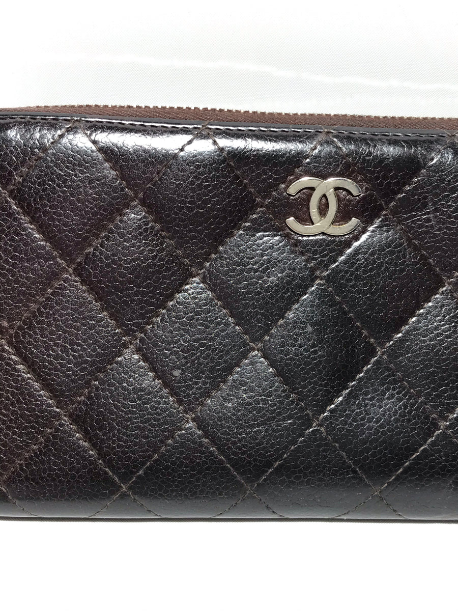 CHANEL/Long Wallet/Leather/BRW
