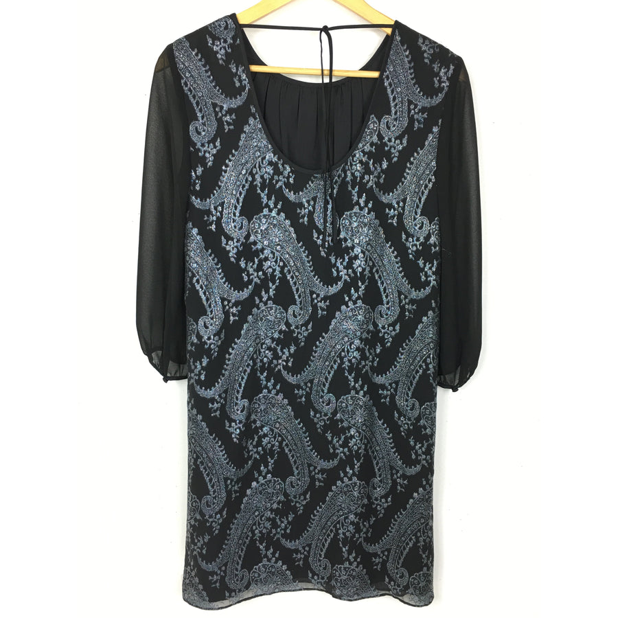 ERIN fetherston/LS Dress/2/Silk/BLK