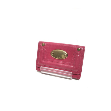 #Chloe/Card Case/Leather/PNK