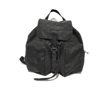 GUCCI//Backpack/BLK/Nylon/Monogram