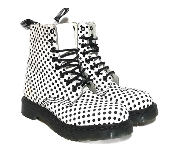 Dr.MARTENS//Boots/US8/MLT/Leather/Polka dot