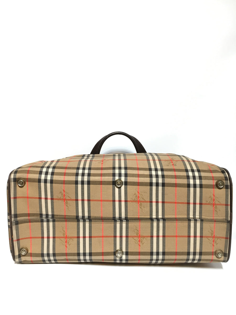 BURBERRYS/Boston Bag/Nylon/BEG/Plaid
