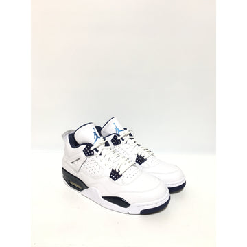 NIKE/JORDAN 4 RETRO/US10/Hi-Sneakers/WHT/Others/Plain