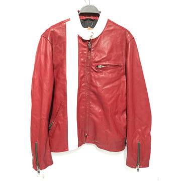 GAP/M/Leather Jkt/RED/Cowhide/Plain