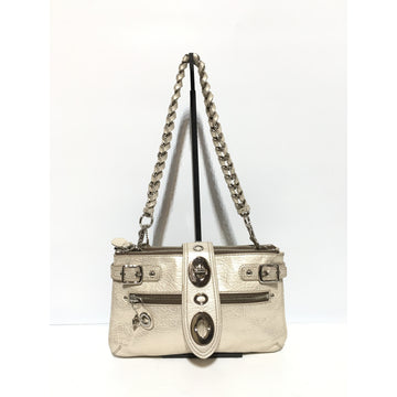 COACH/SILVER/Hand Bag/GLD/Leather/Plain
