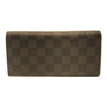 LOUIS VUITTON//Long Wallet//BLK/Leather/Monogram