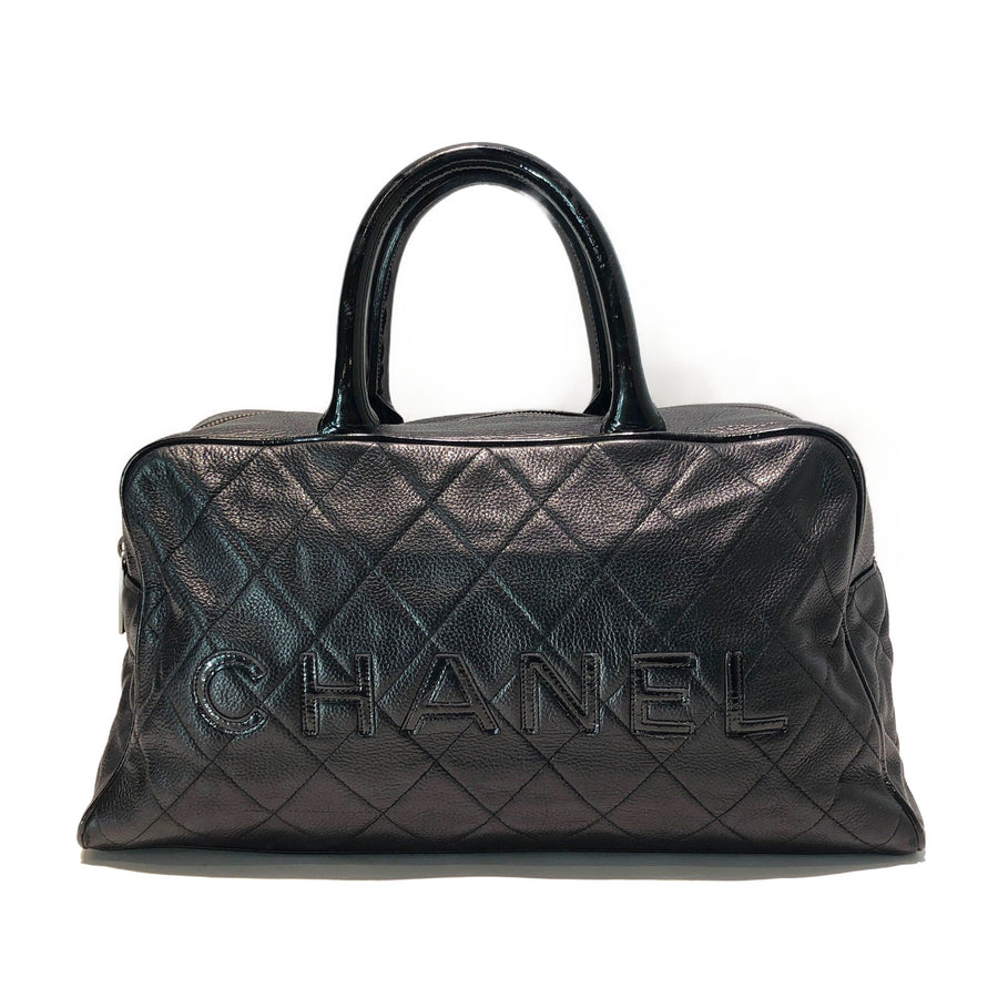 #CHANEL/Boston Bag/Leather/BLK
