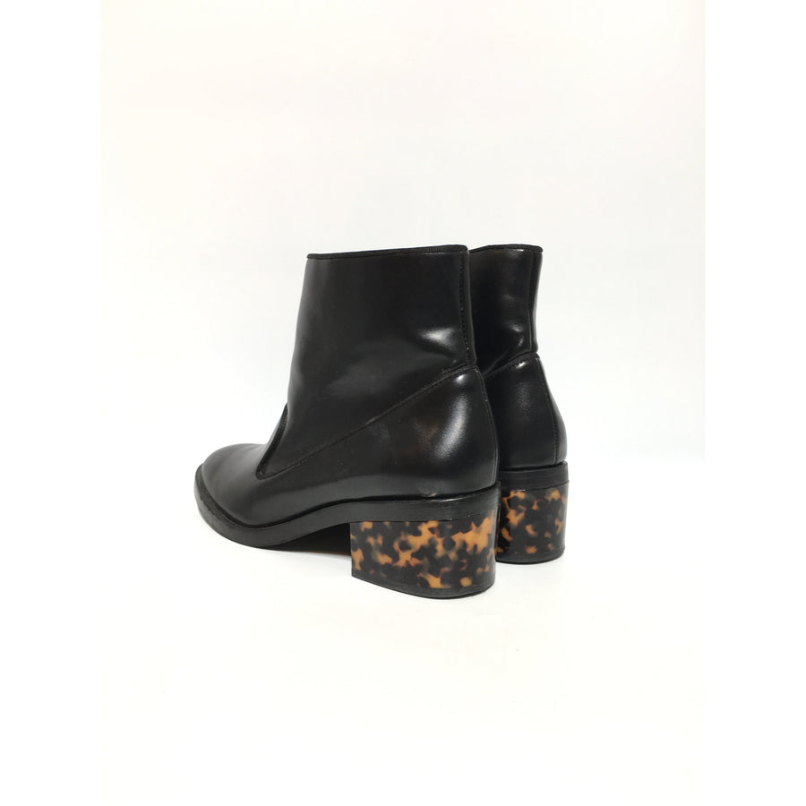 STELLAMcCARTNEY/38.5/Ankle Boots/BLK/Leather/Plain