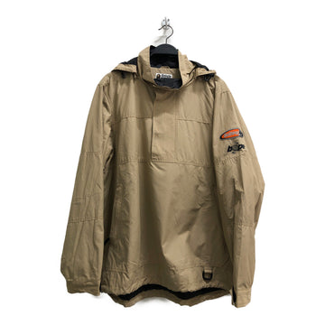 A BATHING APE/nylon jacket/XXL/nylon/BEG/Plain