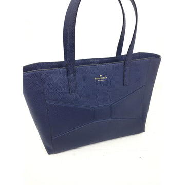 KATE SPADE//Tote Bag/BLU/Leather/Plain