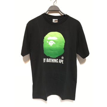 A BATHING APE/L/T-Shirt/BLK/Cotton/Graphic