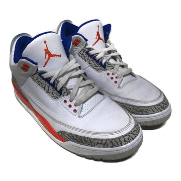 Jordan/3 RETRO KNICKS/Hi-Sneakers/US12/WHT/Others/Plain