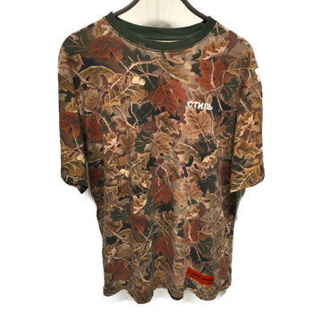 HERON PRESTON//T-Shirt/M/BRW/Cotton/Camouflage