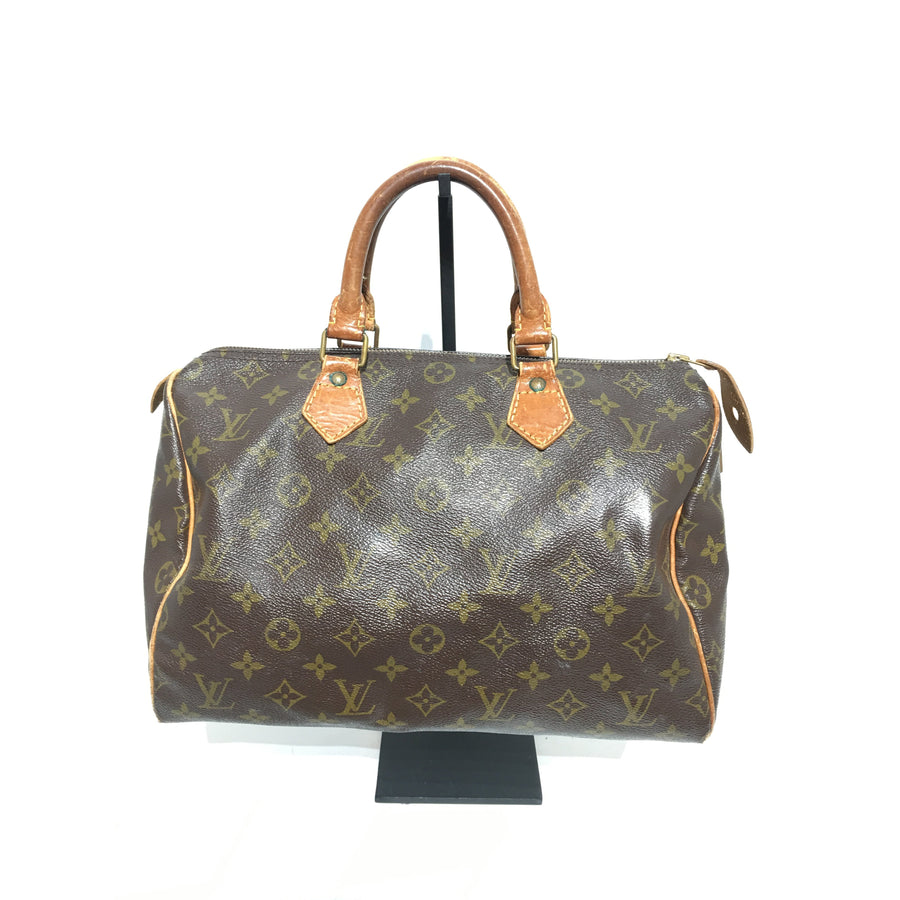 LOUIS VUITTON/Speedy/Boston Bag/Leather/BRW