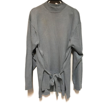 YOHJI YAMAMOTO//Sweater///BLU/Cotton/Plain/Turtle Neck