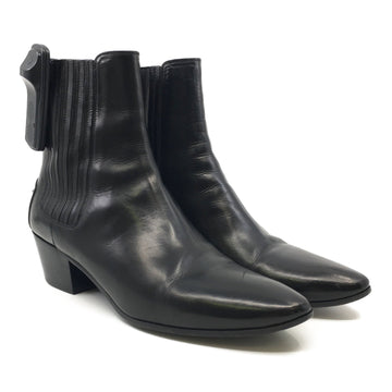 SAINT LAURENT/WEST 45 CHELSEA /Chelsea Boots/39/BLK/Leather/Plain