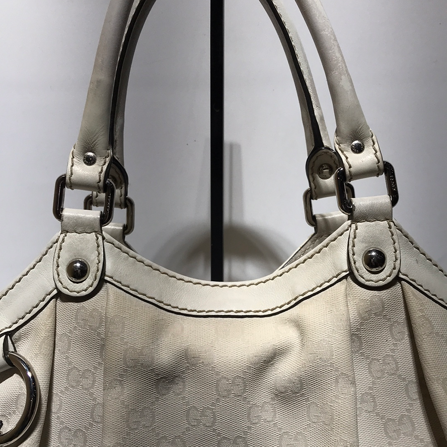 GUCCI/GUCCI SUKEY TOTE GG CANVAS MEDIUM/Tote Bag/OS/BEG/Leather/All Over Print