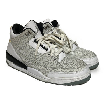 Jordan/AIR JORDAN 3 RETRO 'FLIP'/Hi-Sneakers/US10/WHT/Others/All Over Print