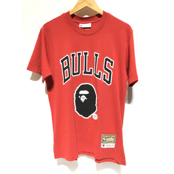 BAPE/XS/T-Shirt/RED/Cotton/Graphic