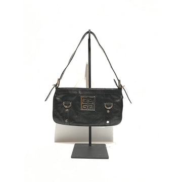 GIVENCHY//Clutch Bag/BLK/Leather/Plain