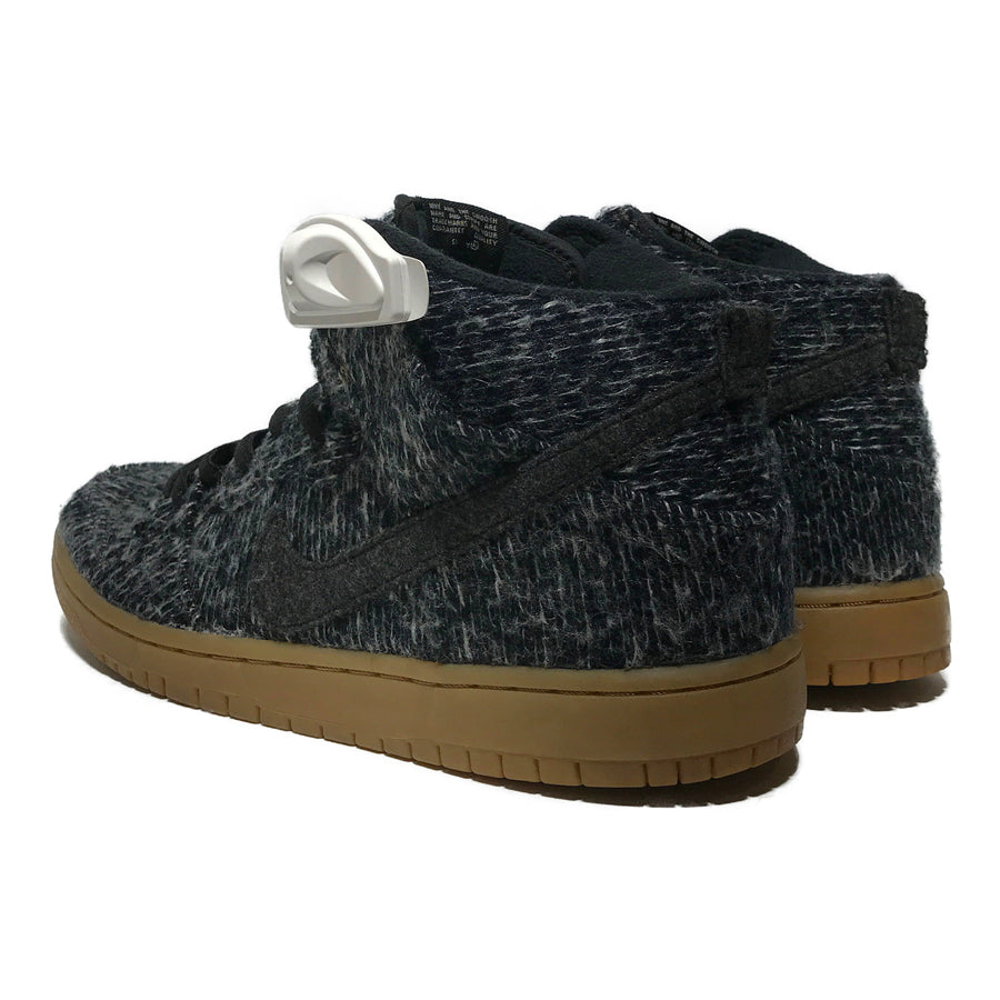 NIKE/DUNK WARMTH PACK/Hi-Sneakers/US8.5/GRY/Wool/Plain