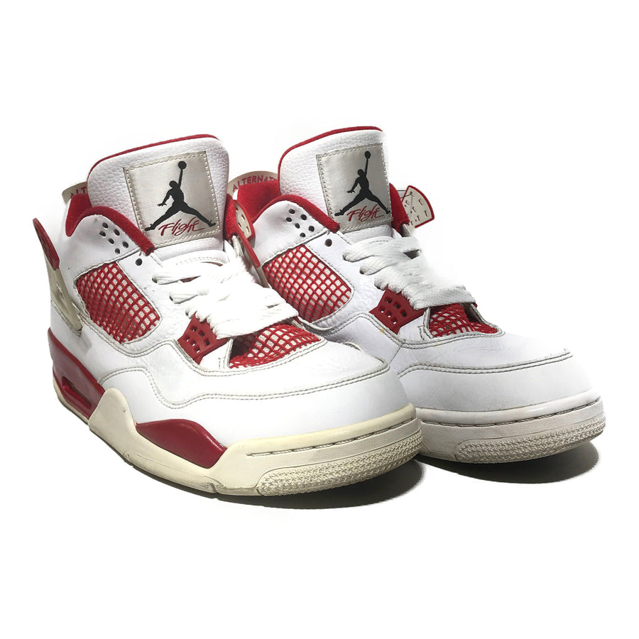 NIKE/JORDAN 4 RETRO ALTERNATE 89/Hi-Sneakers/10.5/RED/Leather/Plain