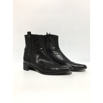 Vintage/US9/Ankle Boots/BLK/Leather/Plain
