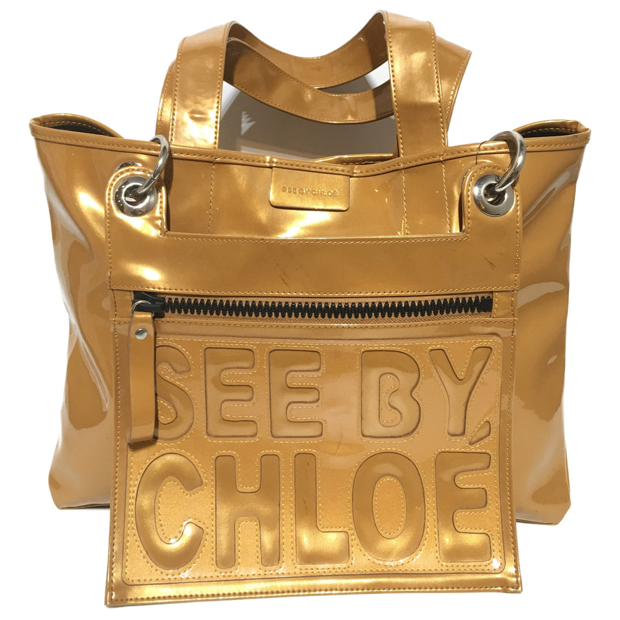 SEE BY CHLOE/Shoulder Bag/Enamel/GLD
