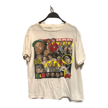 Vintage/RAP ARTIST /T-Shirt/./WHT/Cotton/All Over Print