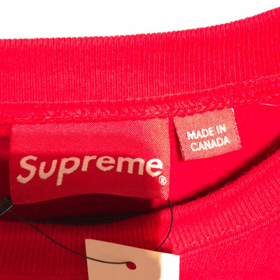 Supreme/SUPREME SWEATSHIRT/Heavy Sweater/L/RED/Cotton/Plain