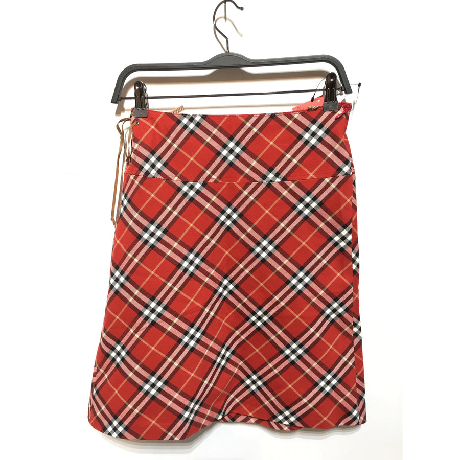 #BURBERRY BLUE LABEL/Skirt/36/Cotton/RED/