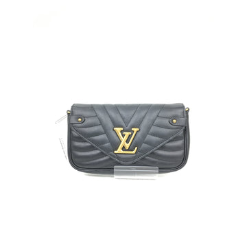LOUIS VUITTON/-/Cross Body Bag/BLK/Leather/Plain
