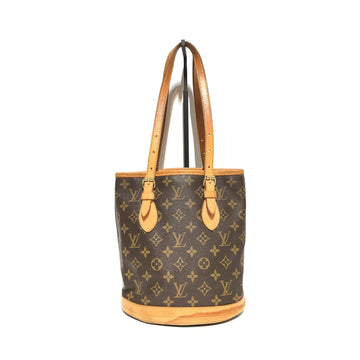 LOUIS VUITTON/BUCKET/Hand Bag/BRW/Leather/Monogram